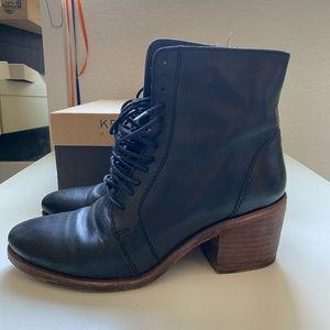 Anthropologie Kelsi Dagger black leather boots 6